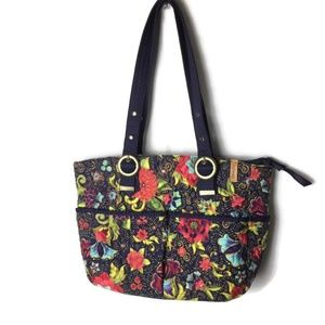 Donna Sharp Purse Bag Large Shoulder Strap Floral